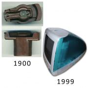 Baquelite 1900 e IMac 1999
