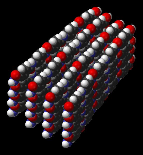 Camadas de cadeias poliméricas de Kevlar