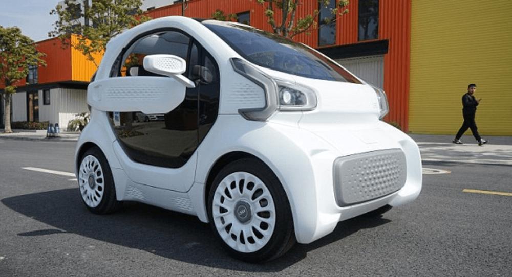 LSEV - o carro feito em impressão em 3D. Fonte: Polymaker.