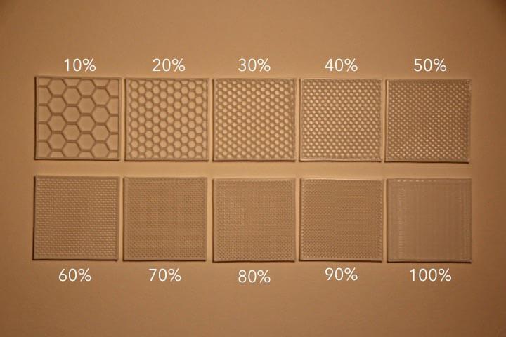 Porcentagem de Preenchimento. Fonte: 3D HUB