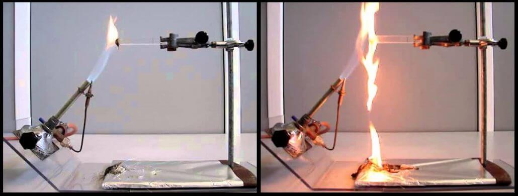 Ensaio responsável por determinar se o polímero é auto-extinguível