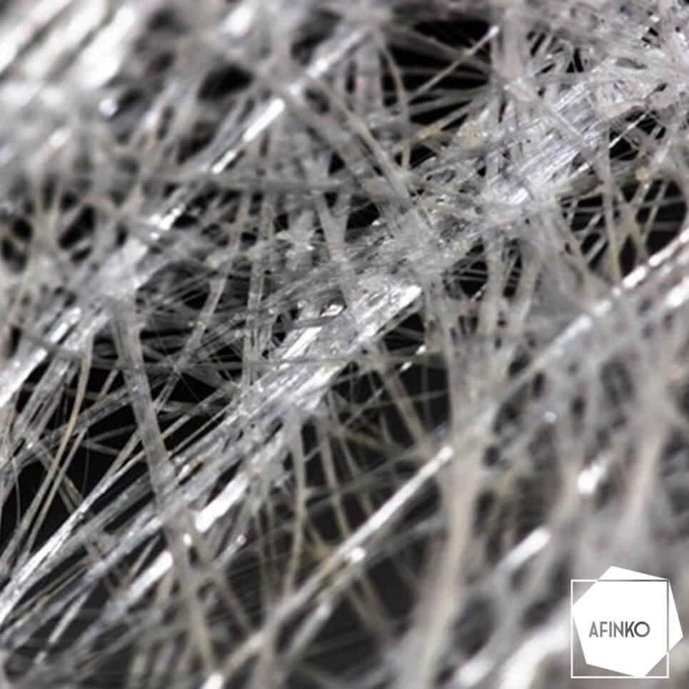 Figura: Imagem ilustrativa das fibras de vidro utilizadas como cargas de reforço.