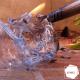 Polímero sendo queimado